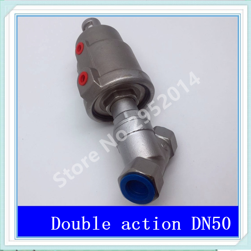 DN50 304 stainless steel pneumatic Angle seat valve with high temperature steam Y type Angle seat valve 2 DN-50 Stainless steel 1pc dn50 stainless steel 304 in line spring check valve
