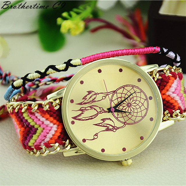 Excellent Quality Womens Quartz Watches Dreamcatcher Bracelet Watches Women Brai