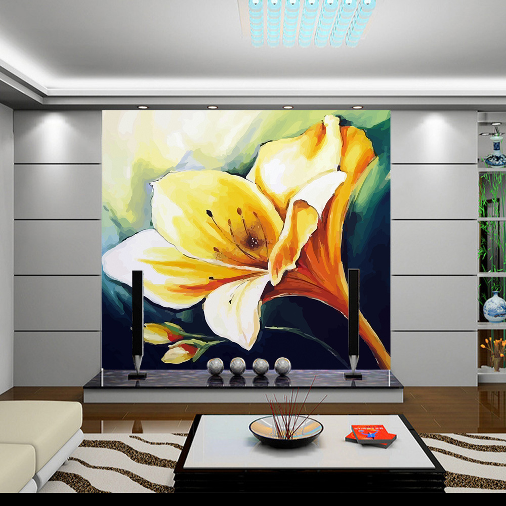 Customize 3D Photo Flower Wallpaper Wall Mural Hand Painting Mural Best Wallpaper For Living Room Sofa TV Background Home Decor large decorative painting flowers 3d mural wallpaper for bedroom living room sofa relief tv background wall