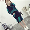 Autumn winter warm Women dress  knit woolen skirt suits 2 pieces suits sets dress AA1450X