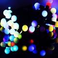 LLEVÓ Luces de la Navidad de Interior de La Boda/Del Partido Luces Decoración AC 110 V 220 V Impermeable al aire libre llevó la lámpara de 9 Colores