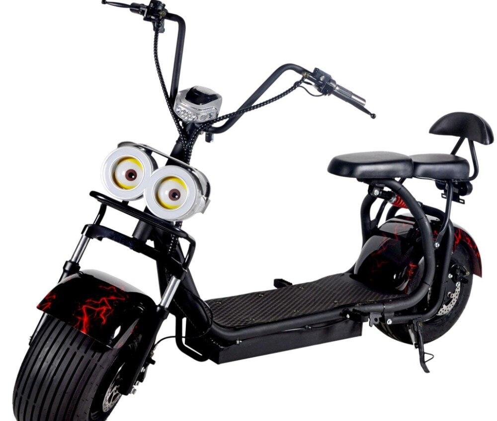 Électrique batterie au lithium Citycoco Scooter 60 V Moto Moto Electrica Personnalité Ornement Lampe
