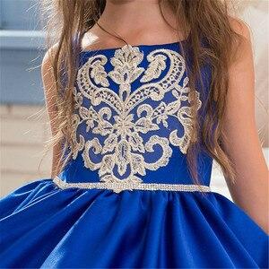 Image 3 - אלגנטית כדור שמלת אופנה פרח בנות שמלות סקופ מחשוף ציפר חזור בנות תחרות ראשית הקודש שמלות לחתונה
