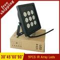 Surveillance 850nm 9Pcs Array Infaraed 42mil leds Lamp Night Vision illuminator IR led Fill light Free shipping