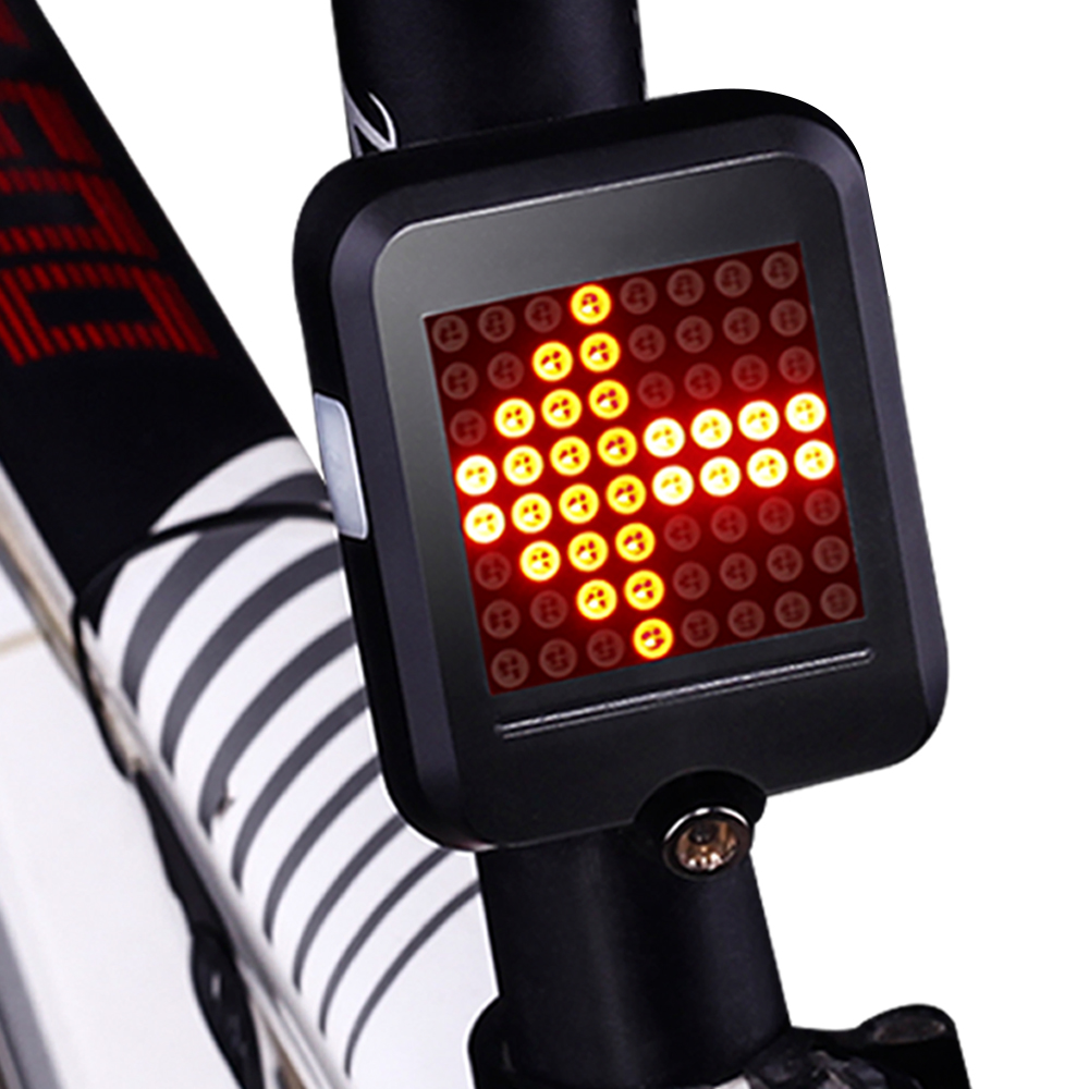 Bicycle Light Automatic Dirction Indicator Taillight USB Charging MTB Bike Safety Warning Light leather