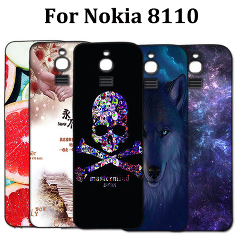 For Nokia 8110 Case cartoon Silicone soft back cover For Nokia 8110 4G Patterned Phone Cases For Nokia TA-1059 shell coque skin