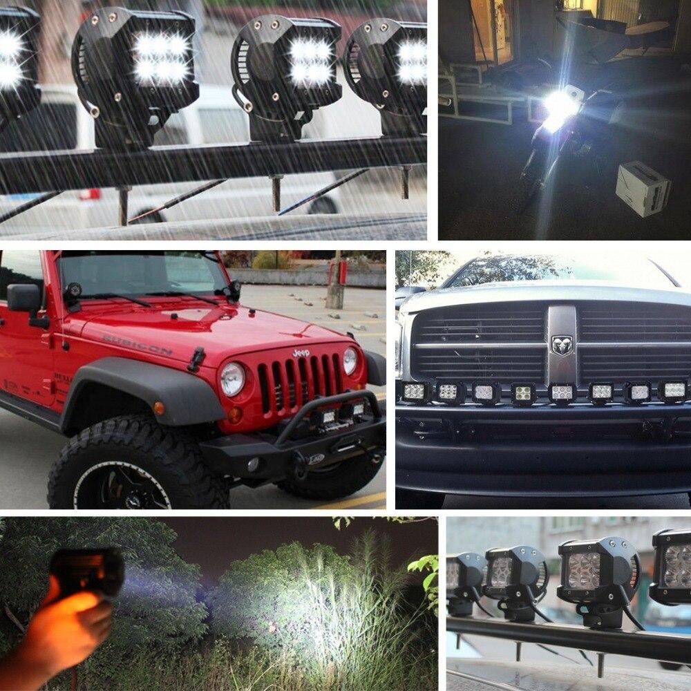 Safego 2pcs 4 düym Offroad LED İşıq Bar 4X4 18W Led İş lampası - Avtomobil işıqları - Fotoqrafiya 6