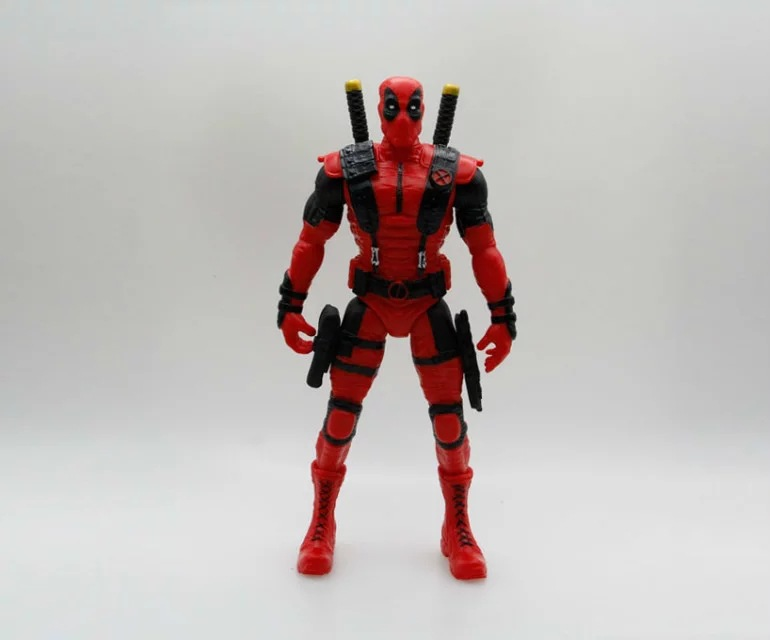 Crazy Toys Marvel Super Warrior Deadpool with Weapons Superheros Anime PVC Action Figure Collectible Model Toys 36cm SHAF010