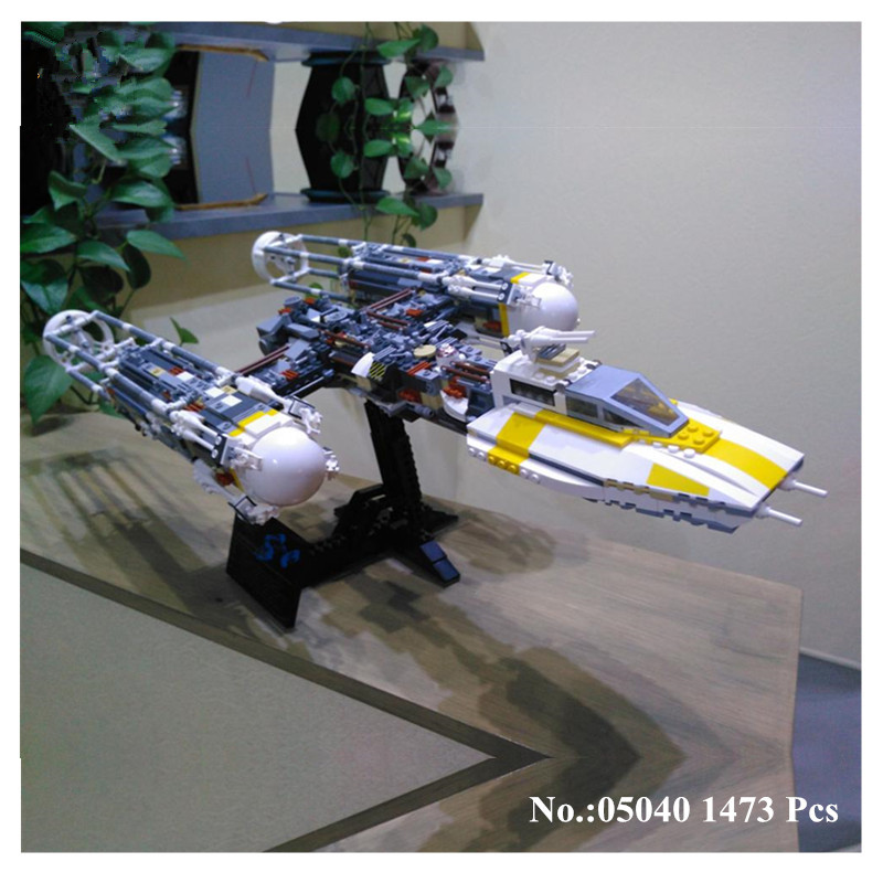 IN STOCK 10134 Star 05040 1473Pcs Series Wars MOC Y-wing Attack Starfighter Model Building Kits Blocks Bricks lepin Toys Gift lepin 05040 y attack starfighter wing building block assembled brick star series war toys compatible with 10134 educational gift