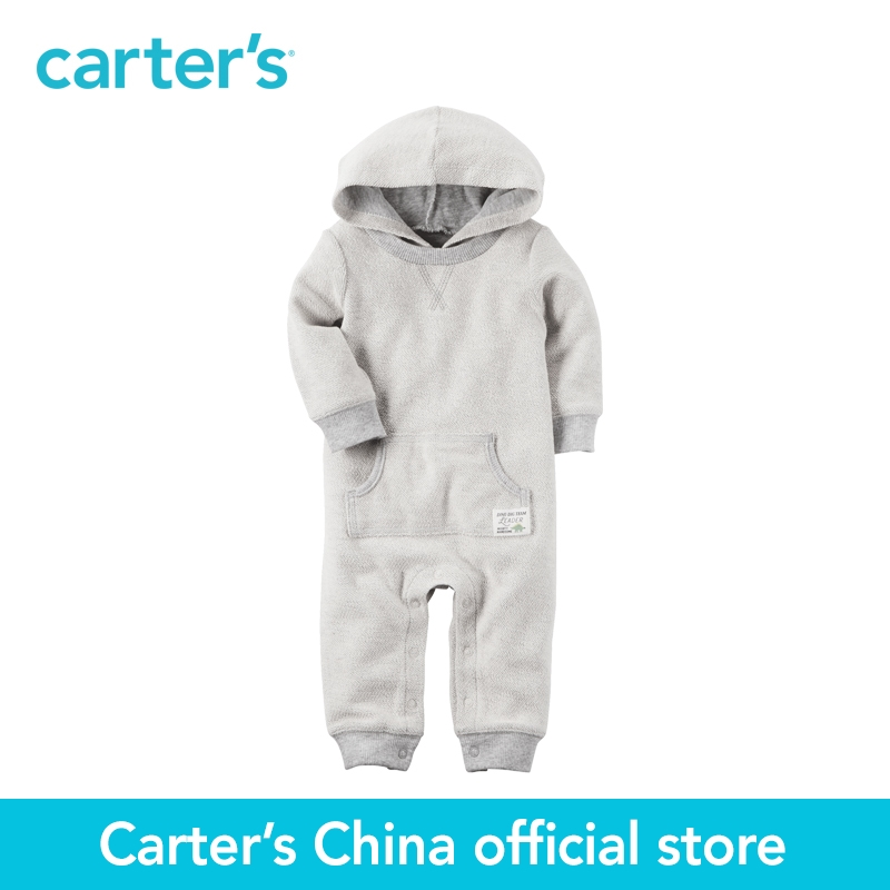 Carter's 1pcs baby children kids Hooded French Terry Jumpsuit 118H265,sold by Carter's China official store  carter s 1 pcs baby children kids long sleeve embroidered lace tee 253g688 sold by carter s china official store