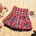 2017 Hot Sell New Fashion Popular Red Casual Scotland short skirts Student School Plaid Ball Gown Women Skirt LX01