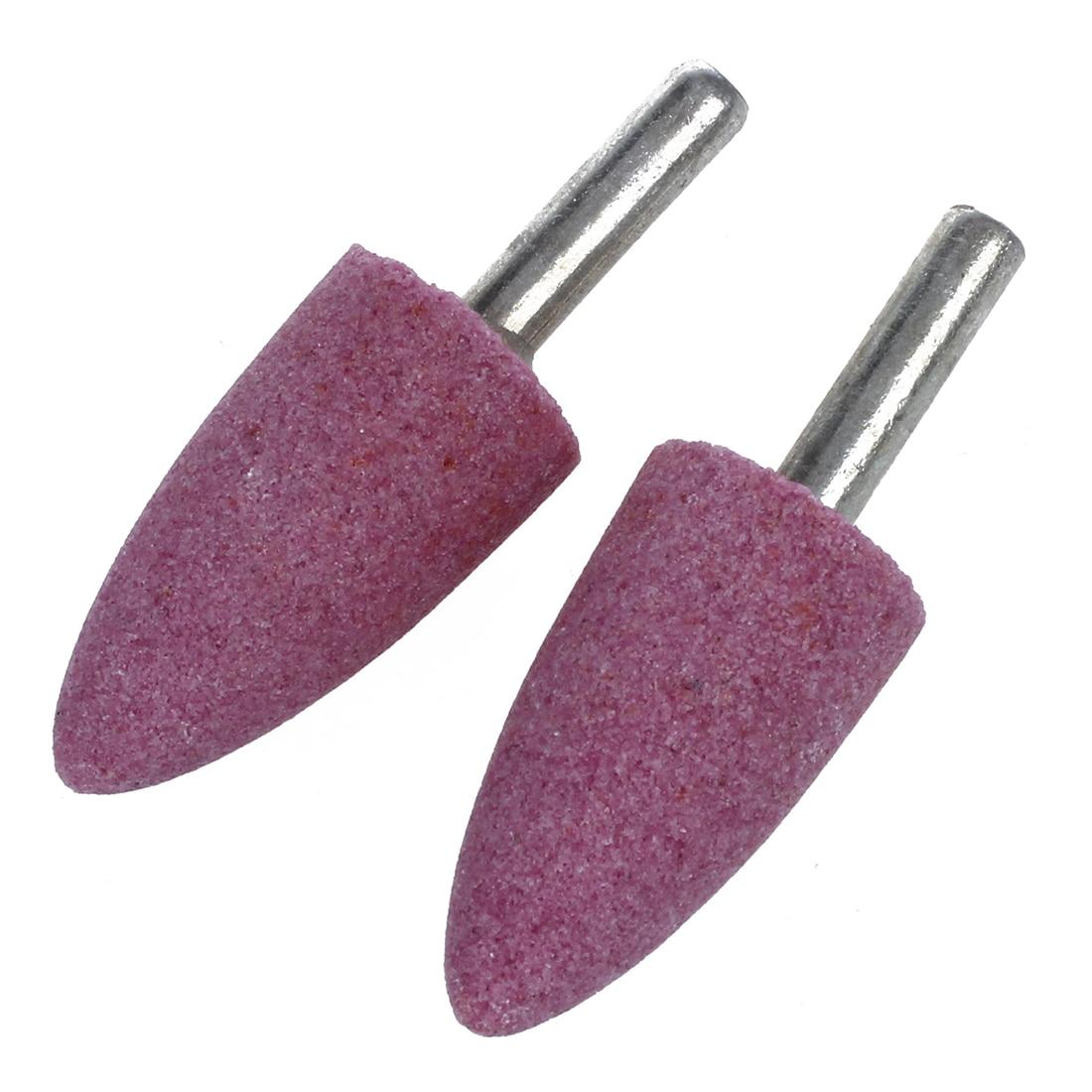 NFLC-19mm Head Ceramic Stone Abrasive Grinding Mounted Points 2 Pcs
