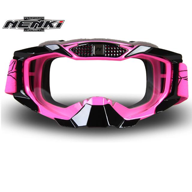 Nenki homens mulheres lunettes moto motocross goggles off-road google moto bike downhill motocross óculos óculos de lente substituível