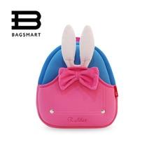 BAGSMART Animal Waterproof Kids Baby Bags Kindergarten Neoprene Rabbit Children School Bags For Girls Boys Cute