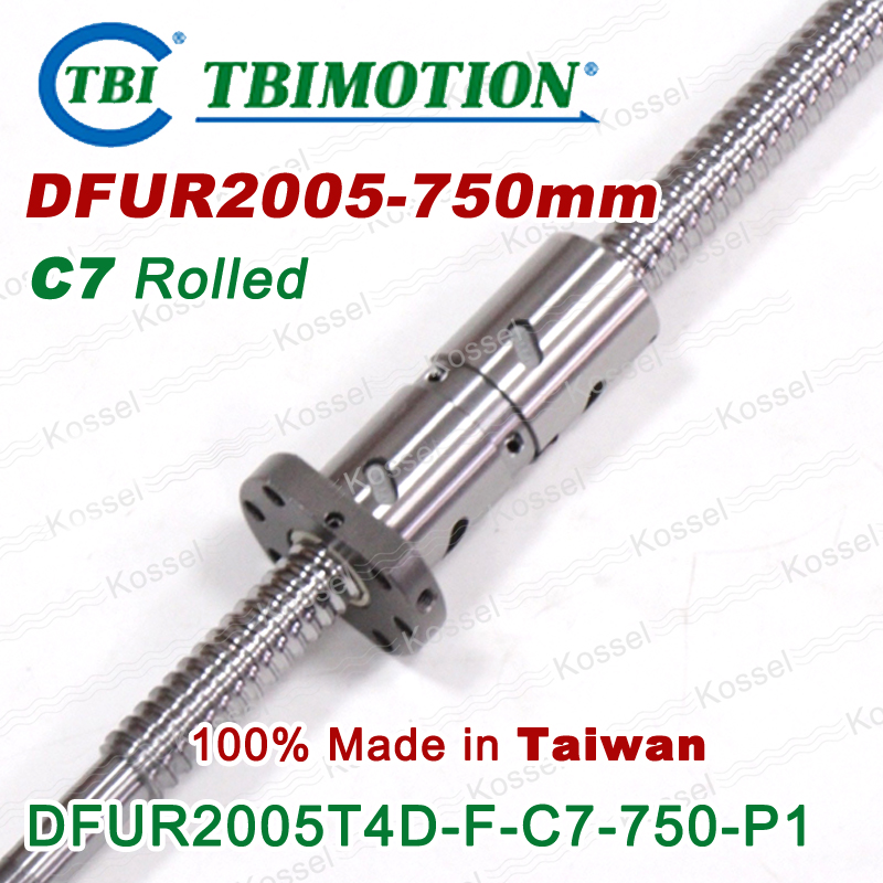 Hot Sale TBI  DFU 2005 750mm Ball Screw  Rolled ballscrew and end machined for high stability linear CNC diy kit tbi dfi 2505 600mm ball screw milled ballscrew and end machined for high stability linear cnc diy kit