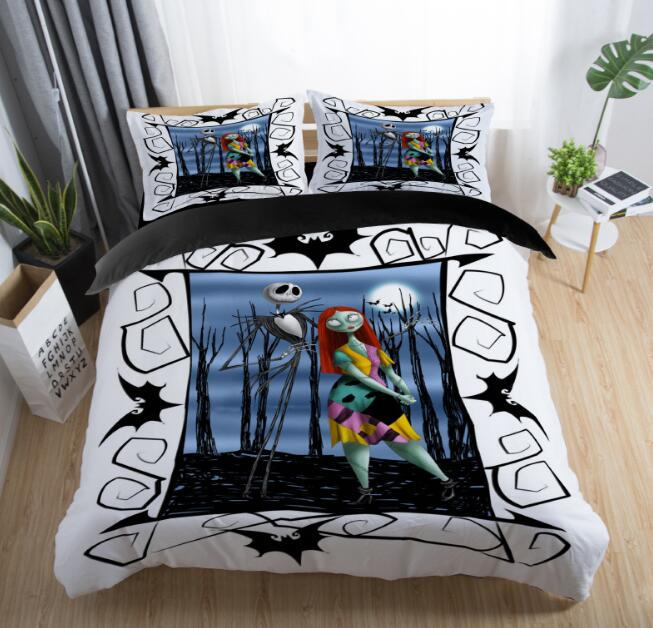The Nightmare Before Christmas Printed Bedding Set Adult Kids Popular Duvet Cover Set Pillowcase Twin Full Queen King Bed LinensThe Nightmare Before Christmas Printed Bedding Set Adult Kids Popular Duvet Cover Set Pillowcase Twin Full Queen King Bed Linens