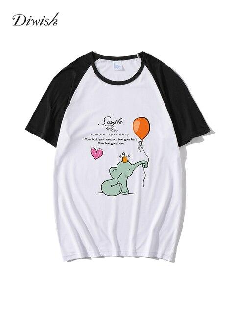 Diwish Summer Tops for Women 2019 Harajuku Aesthetics Tshirt Cartoon Print Short Sleeve Tee Shirt Casual O-neck Women Tops&Tees