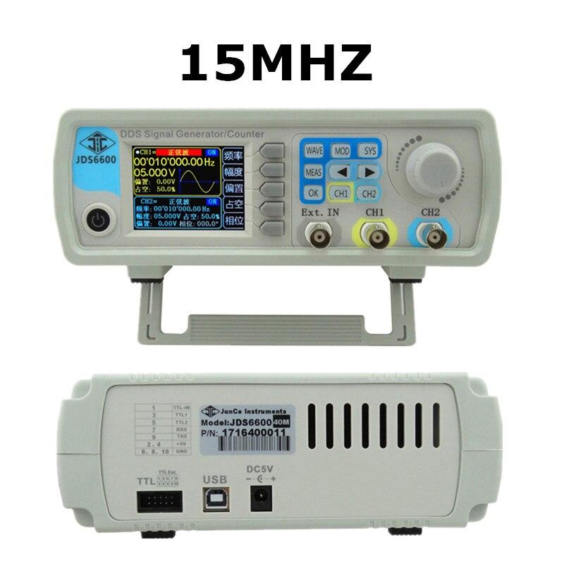 JDS6600 15MHZ Digital Control Arbitrary sine Dual-channel DDS Function Waveform Signal Generator frequency meter 47%off jds6600 30m series 30mhz digital control dual channel dds function signal generator arbitrary waveform pulse frequency meter