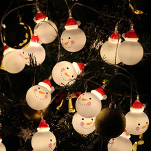 1.5M 3M snowman led fairy string lights santa led Christmas light home garden indoor party wedding Christmas decoration light(China)