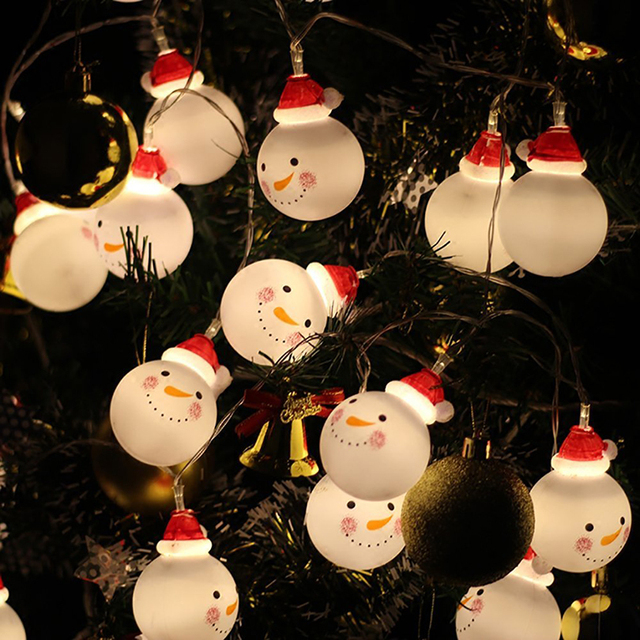 Creative Snowmen Shaped Battery Operated Christmas LED String Light
