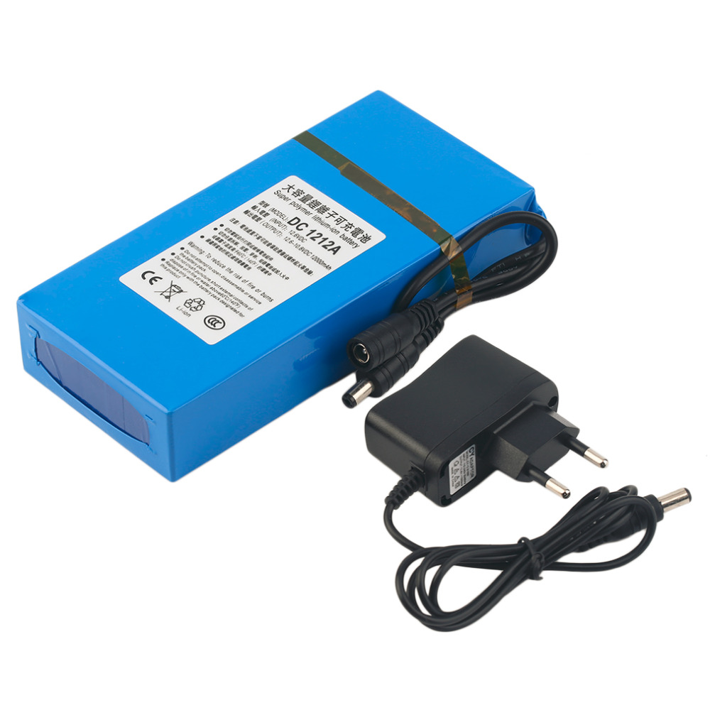12000MAH Large Capacity Long Battery Life DC 12V Rechargeable Li-ion Battery Portable Li-ion Backup Battery For Camera