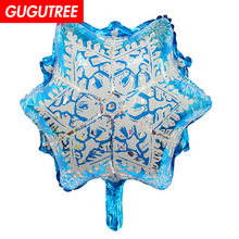 Decorate 50x57cm white blue snowflower star foil balloons wedding event christmas halloween festival birthday party HY-251