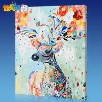 뜨거운 판매 DIY 그림 액자 그림 그림 세공 그리기 캔버스 벽 스티커 홈 장식 FAM58