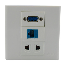 New 86 X 86 mm Face Plate VGA AC Power Network Wall plate Socket g9 p9 converter 30kw 37kw 45kw 55kw power driven plate plate ep 3531f