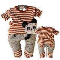 Darmowa wysyłka Wiosna Valley postawa Anlencool niemowląt panda kostium nowy bar dla niemowląt body dla bobasów baby boy odzież ustawia