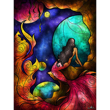Новый полный квадратный diy 5d бриллиант картина мультфильм девушка мозаика 3d-бриллиантовая Вышивка Принцесса Детская комната украшения 40×50 см