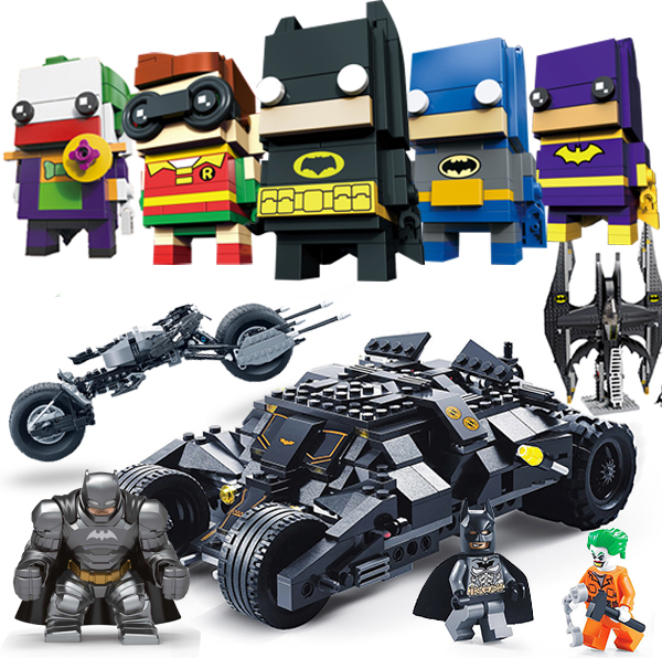 Super Hero Armed Batman Figure Race Truck Car Model Technic Building Kit Block Sets DIY Toys Compatible Legoed Batpod Batmobile