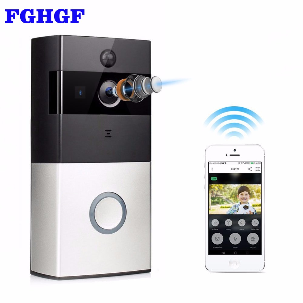 FGHGF Wireless Intercom Doorbell Video Camera WiFi IP 720P PIR Alarm IR Night Vision Two Way Audio Home Security Camera 2 7inch indoor monitor wifi wireless video door phone intercom doorbell ip camera pir ir night vision home alarm system remote