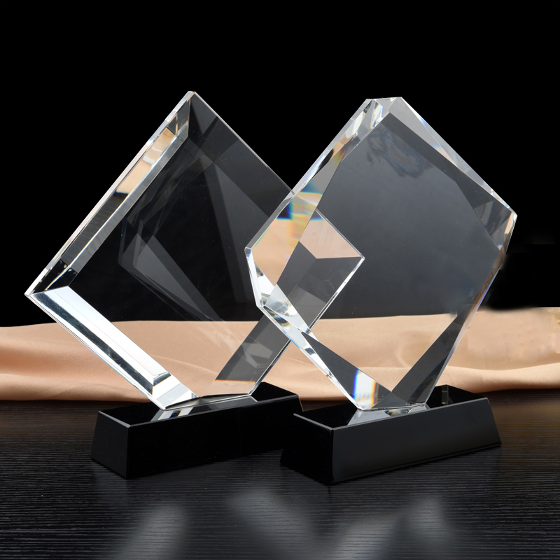 Music Dancing Awards Trophy DIY Engraving Crytsal Recognition Trophies and Awards for Employees Gifts trophy