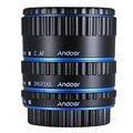 Судов Из Франции Andoer Красочный Металл TTL Автофокус AF Макрос Удлинитель Кольцо для Canon EOS EF EF-S 60D 7D 5D II 550D синий