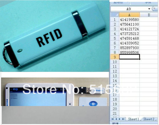 13.56MHz Mini USB RFID IC reader for Access Control Support Windows ME.2000.ME.NT.XP,LIUNX,Android Operating System image