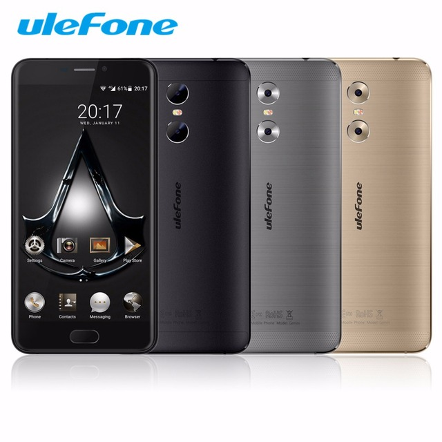 "Original Ulefone GEMINI 5.5"" 4G Quad Core Mobile Phone FHD 1920X1080 3GB RAM 32GB ROM MTK6737T 13MP Fingerprint Smartphone"