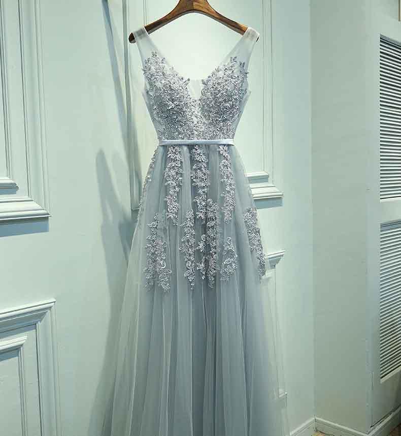 5 couleurs v-cou gris robe de soirée femmes robe de soirée de bal Tulle longueur de plancher sans manches rose blanc robe pour les femmes grande taille 5XL