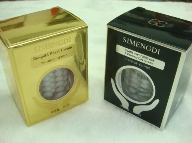 Hot wholesale 6pcs lot Skin Care SIMENGDI Phyto Silver Balancing Day Cream Bio gold pearl cream