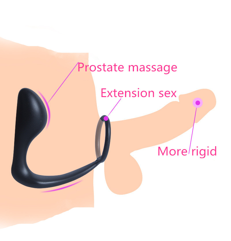 Sex Tools For Sale With Cock Ring Prostate Massage Device Silicone Anal Plug Butt Plug Sex Products Adult Anal Sex ToysFor Men.