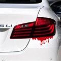 Nueva promoción real de dibujos animados creativo luz trasera adhesivos autos sangrado arterial pegatina para peugeot 407 volkswagen car styling