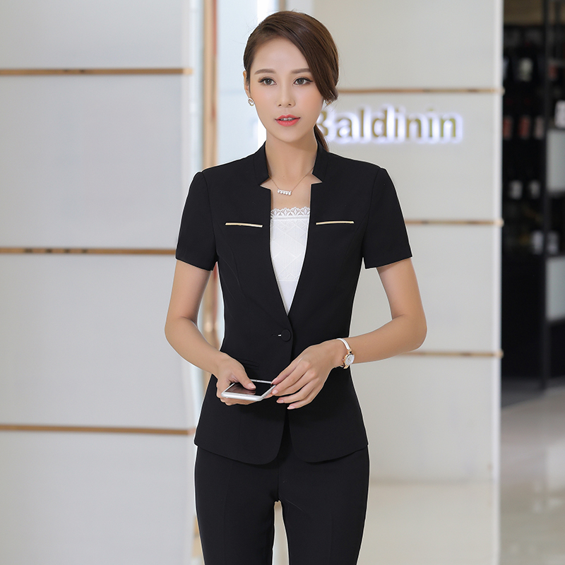 Professional Women Wear Summer Short Sleeved Suit Work Clothes