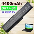 6 celdas 4400 mah batería del ordenador portátil para toshiba pa3817u-1bas pa3817u-1brs pa3818u-1brs satellite l750 l750d