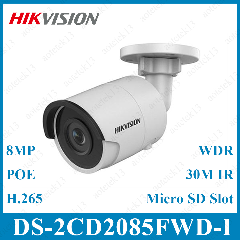 Hik 8mp Cctv Camera Updateable Ds-2cd2085fwd-i Ip Camera High Resoultion Wdr Poe Bullet Security Camera With Sd Card Slot Surveillance Cameras Security & Protection