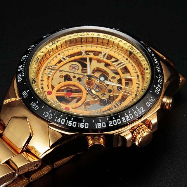 e154e052ba0 Vencedor Relógios Men Sport Watch Mens Esqueleto Relógio Mecânico Automático  Negócio Militar Do Exército Relógio de