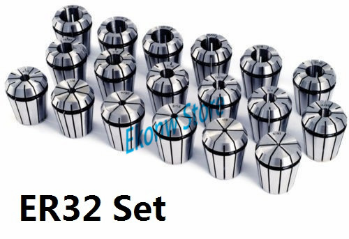 20pcs/set ER32 Chuck Collet Precision Spring Chuck Collet Set 1-20mm For CNC Milling Lathe Tool Engraving Machine new 19pcs er32 spring collet set with mt2 er32 m10 collet chuck taper holder for cnc engraving machine and milling lathe tool