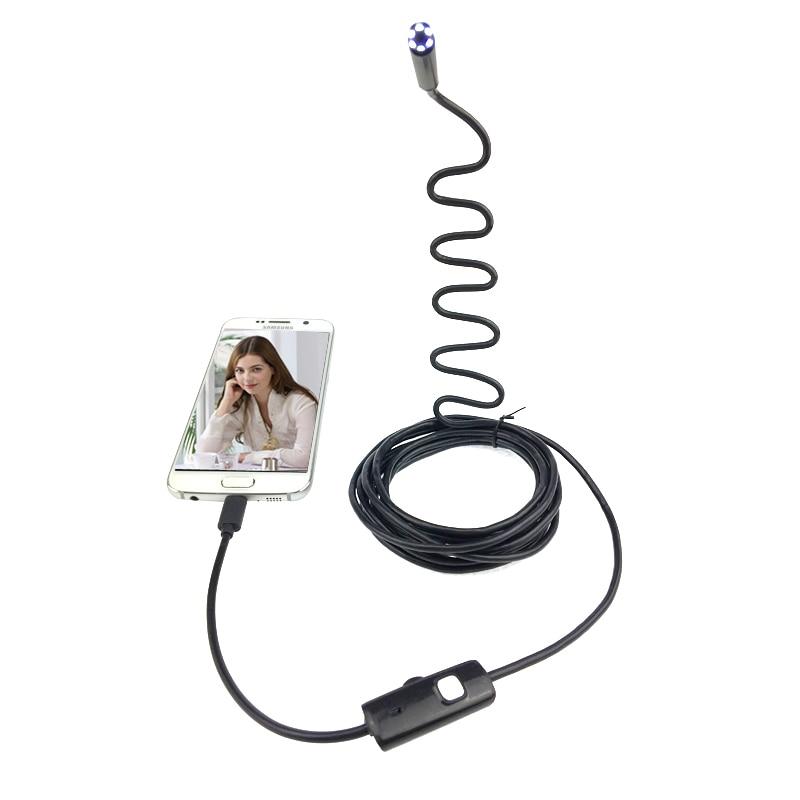 bilder für 1,5 mt Harte Kabel Android Endoskop Kamera 7mm Objektiv Fest Draht 6LED Wasserdichte USB Endoskop Kamera Schlange Industrie Endoskop