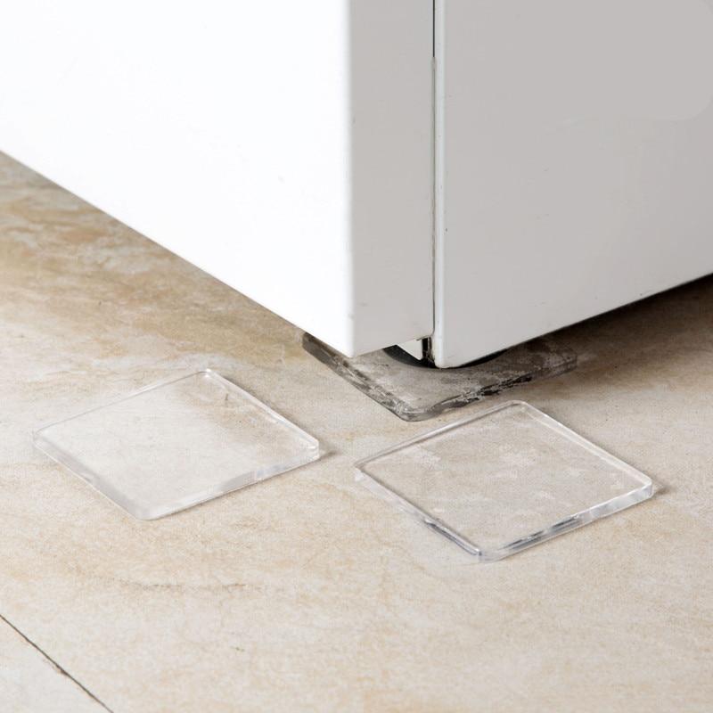 4pcs! PU plastic Washing Machine Shock Non-slip mats Anti-vibration Noise Home Chair Desk Desk Feet protection pads