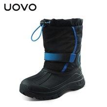 UOVO 2016 Étanche Filles Bottes de Ski Tissu Enfants Bottes Antidérapant Mi-mollet Filles Chaussures Wearproof Enfants Chaussures Filles D'hiver neige Bottes