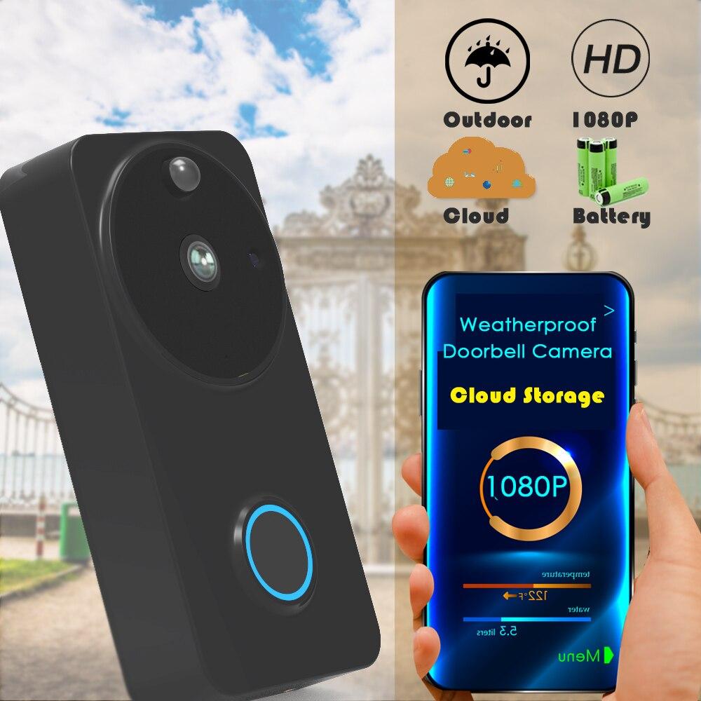 CTVMAN sécurité 1080 P sans fil vidéo porte téléphone nuage Wifi sonnette extérieur vidéos porte entrée interphone maison appel alarme IP caméra