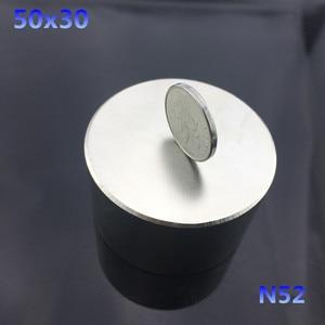 Image 3 - Ímã permanente redondo n52 50x30mm, ímã de neodímio super forte 40x20mm, 1 peça rara terra ndfeb gallium metal